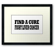 Liver Cancer Framed Print