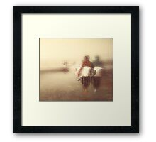 SOUL OF A BLACKS BEACH SURFER Framed Print
