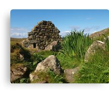 Blackhouse Ruin at Gearrannan Canvas Print