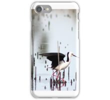 black - winged stilts  iPhone Case/Skin