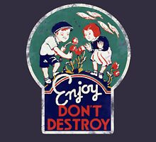 Enjoy don't destroy our planet for earth day  Women's Fitted Scoop T-Shirt