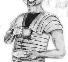 The Roman Centurion Has Coffee by robertemerald