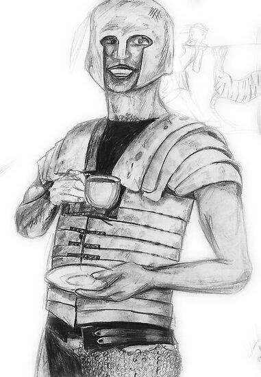 The Roman Centurion Has Coffee by robertemerald