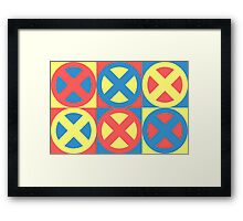 X-Men Pastel Triad Framed Print