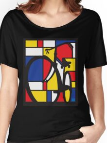 Mondrian Bicycle Women's Relaxed Fit T-Shirt