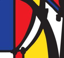 Mondrian Bicycle Sticker