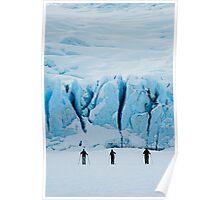 Portage Glacier Skiers Poster