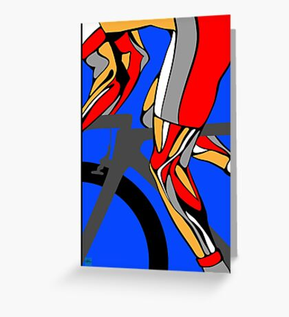 Tour De France Legs Greeting Card