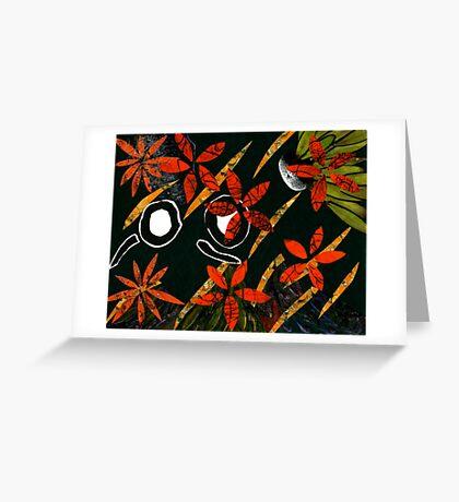 Flowers in Wind Greeting Card