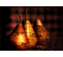 3 golden pears Photographic Print