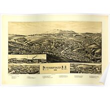 Panoramic Maps Peterborough NH 1886 Poster
