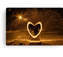 Burning Heart Canvas Print