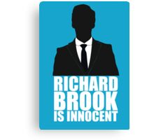 Richard Brook is Innocent Canvas Print