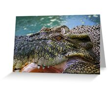 Crocodilian with open mouth Greeting Card