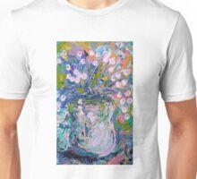 White Flower Abstract Unisex T-Shirt