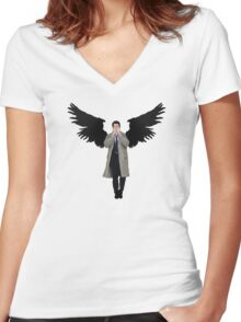 Weeping Cas Women's Fitted V-Neck T-Shirt