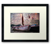 Misty Morning On The Ganges Framed Print