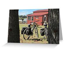 bicycles at Wedderburn Greeting Card