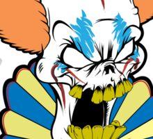 Killer Clown Skull Sticker