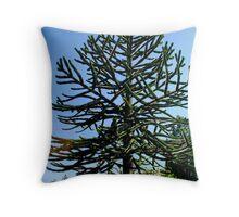 Araucaria araucana (popularly called the Monkey-puzzle Tree or Monkey Tail Tree) Throw Pillow