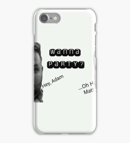 Party sarcasm iPhone Case/Skin