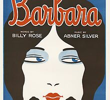 BARBARA (vintage illustration) by ART INSPIRED BY MUSIC