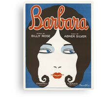 BARBARA (vintage illustration) Canvas Print