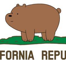 California Republic Grizz - We Bare Bears Sticker
