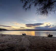 Wallaga Lake sunset by Roger Neal