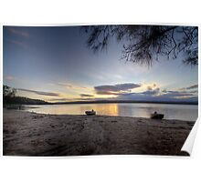 Wallaga Lake sunset Poster