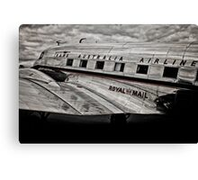 DC-3 Side profile Canvas Print