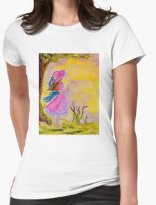 Pink Hat Womens Fitted T-Shirt