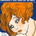 BROKEN HEARTED BABY (vintage illustration) by ART INSPIRED BY MUSIC