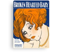 BROKEN HEARTED BABY (vintage illustration) Canvas Print