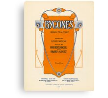 BYGONES (vintage illustration) Canvas Print
