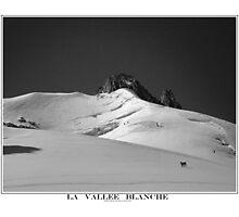la vallee blanche Photographic Print