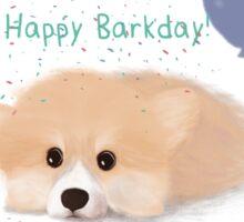 Happy Barkday Corgi Sticker