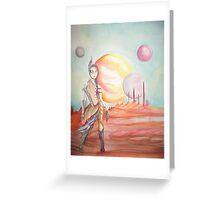 Seule sur Mars Greeting Card