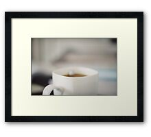 office afternoon Framed Print