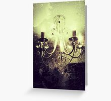 Gothic chandelier - Digital photography  Greeting Card