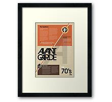 70's Typography Infographic Framed Print