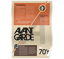 70's Typography Infographic Poster