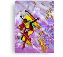 jetgirl rocketship squadron Canvas Print