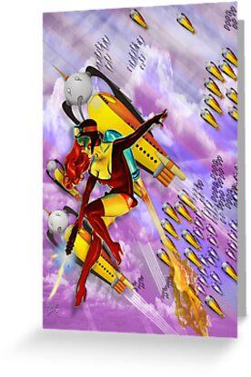 jetgirl rocketship squadron by dennis william gaylor