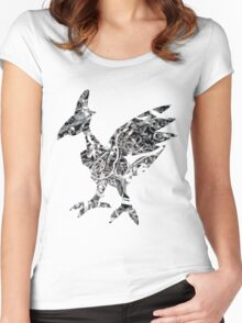 Skarmory used steel wing Women's Fitted Scoop T-Shirt
