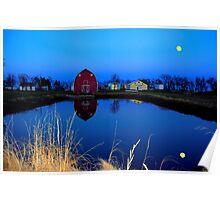 Barnyard Reflections Poster