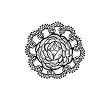 Art Deco Floral Mandala Photographic Print