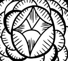 Art Deco Floral Mandala Sticker