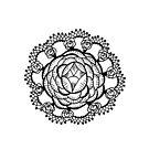 Art Deco Floral Mandala by ellejayerose
