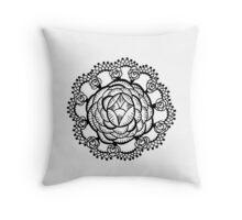 Art Deco Floral Mandala Throw Pillow
